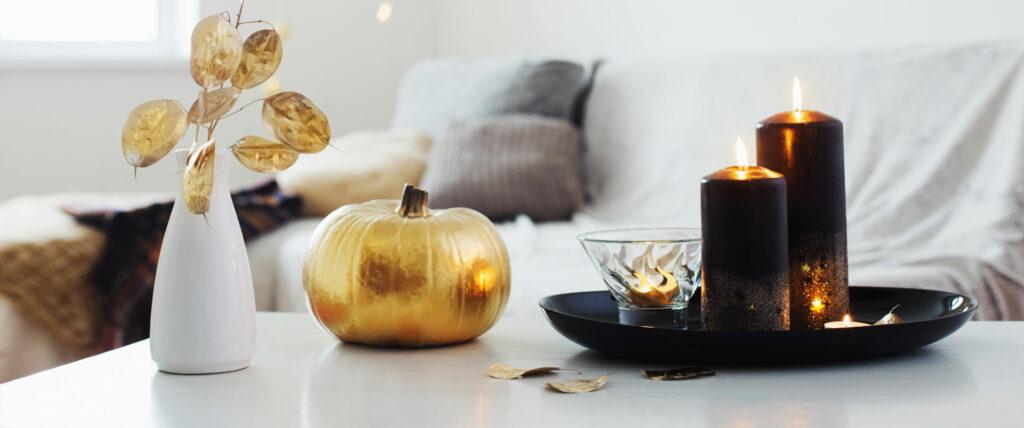 Tischdeko-Ideen in Gold