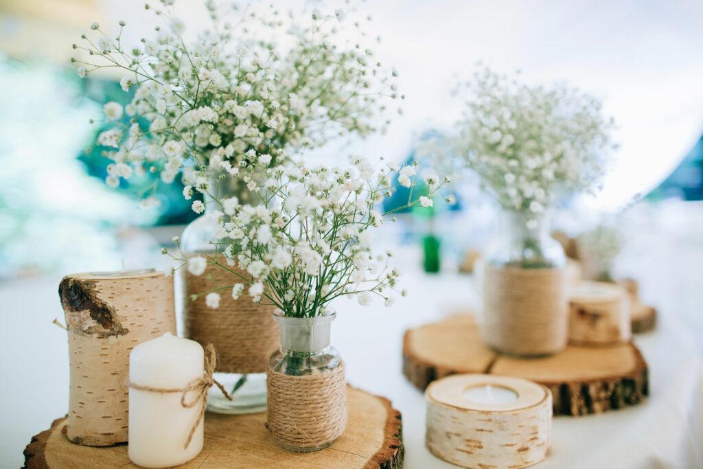 Naturnahe Tischdeko