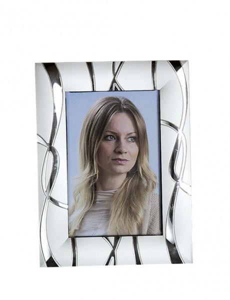 Moderner Bilderrahmen Fotorahmen aus Aluminium Silber 10x15 cm (Variante 2)