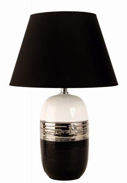 Modern table lamp decorative lamp ceramic black / silver / white height 45 cm