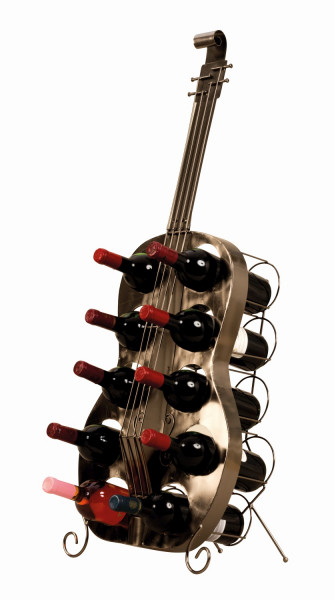 Luxury and huge wine rack in the shape of a guitar Height 101 cm
