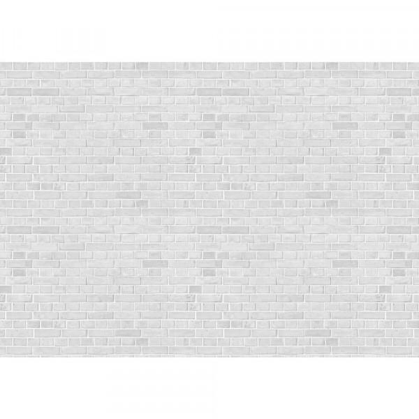 Vlies Fototapete White Brick Stone Wall - anreihbar Steinwand Tapete Steinoptik Stein Wand Wall weiß