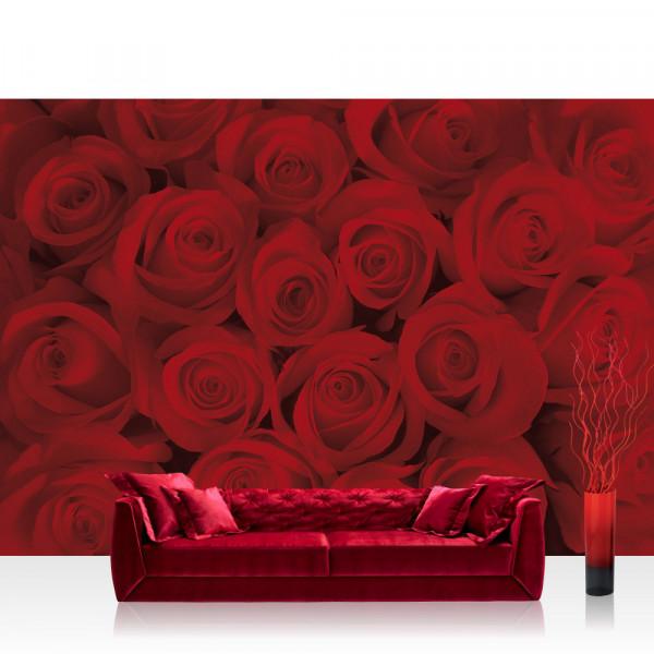 Vlies Fototapete Blumen Tapete Rosen Blüten Blumen rot