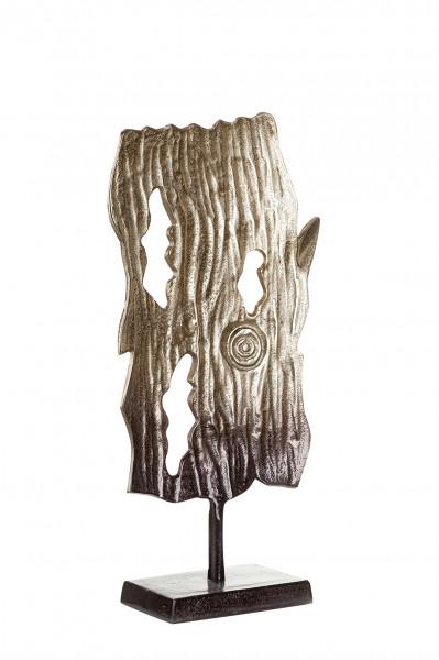 Exklusive Skulptur Dekofigur 'Madera' aus Aluminium Braun/bronzefarben Höhe 47 cm Breite 22 cm