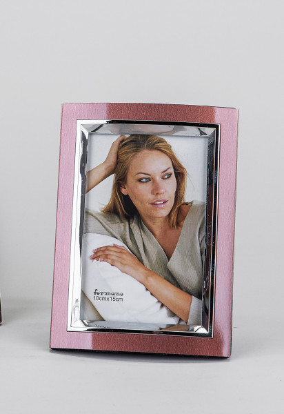 Moderner Bilderrahmen Fotorahmen aus Aluminium braun/silber 10x15 cm