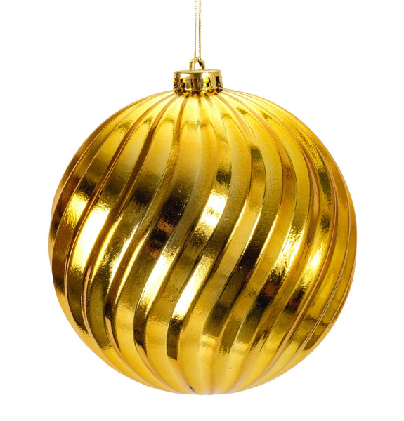 Large Christmas Baubles Baubles SET with 4 pieces of gold color shiny diameter 15 cm