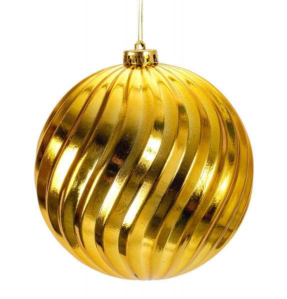 Große Weihnachtskugeln Christbaumkugeln SET mit 4 Stück Farbe Gold glänzend Durchmesser 15 cm