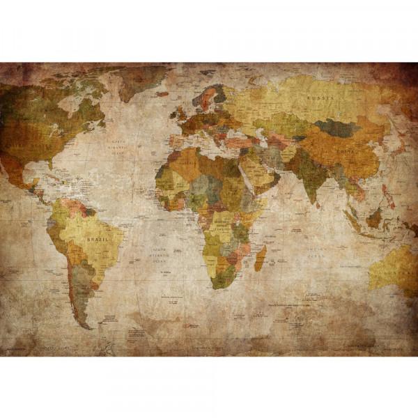 Vlies Fototapete Vintage Atlas Welt Tapete Weltkarte Antik Atlaskarte Atlanten Karte Atlas braun