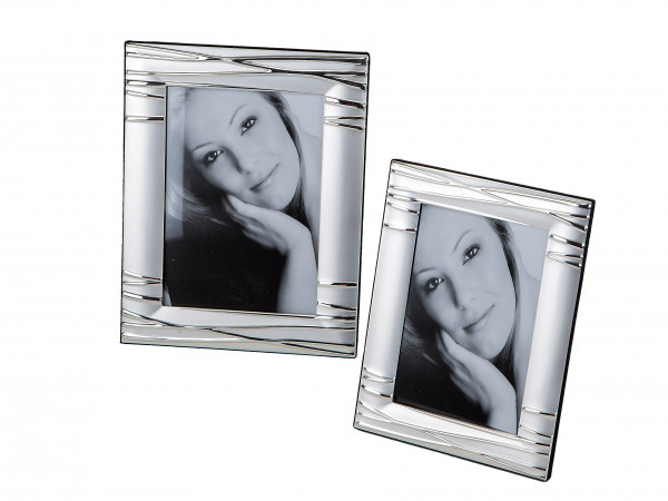 Modern photo frame Picture frame made of aluminum silver 10x15 cm