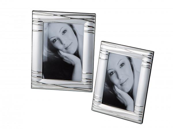 Moderner Fotorahmen Bilderrahmen aus Aluminium silber 10x15 cm