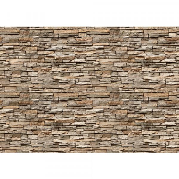 Vlies Fototapete Asian Stone Wall 2 – anreihbar Steinwand Tapete Steinoptik Stein Steine Wand Wall