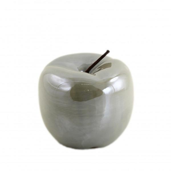 Moderne Skulptur Dekofigur Apfel grau aus Dolomit 15x15x12 cm
