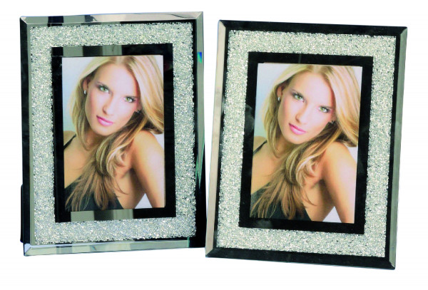 Modern Photo Frame CRYSTAL aluminum and glass for photo 10x15 cm