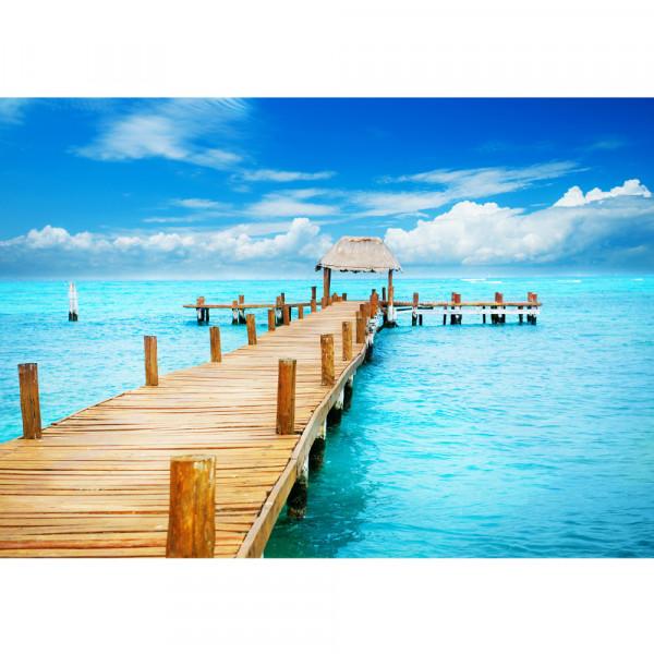 Vlies Fototapete Strand Tapete Strand Meer Beach Wasser Blau Himmel Sonne Sommer türkis