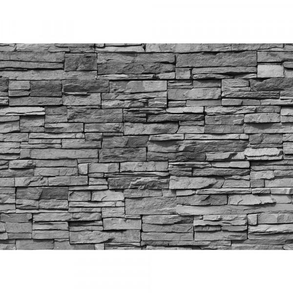 Vlies Fototapete Asian Stone Wall - anthrazit - anreihbar Steinwand Tapete Steinoptik Stein Steine