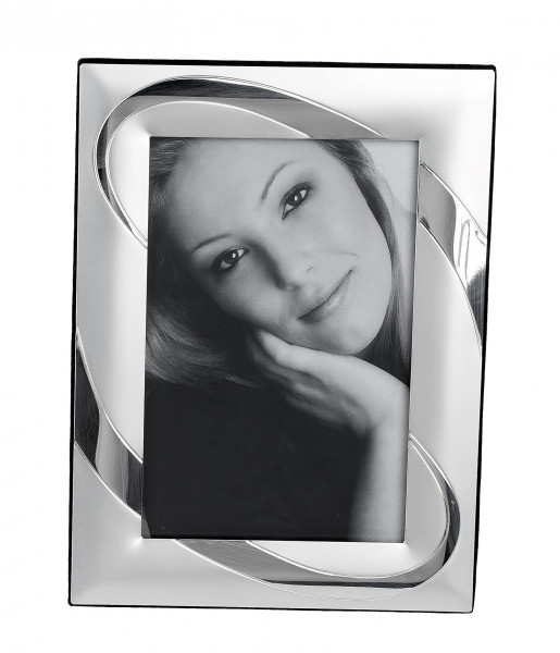 Modern picture frame Photo frame made of aluminum silver glossy / matt 10x15 cm