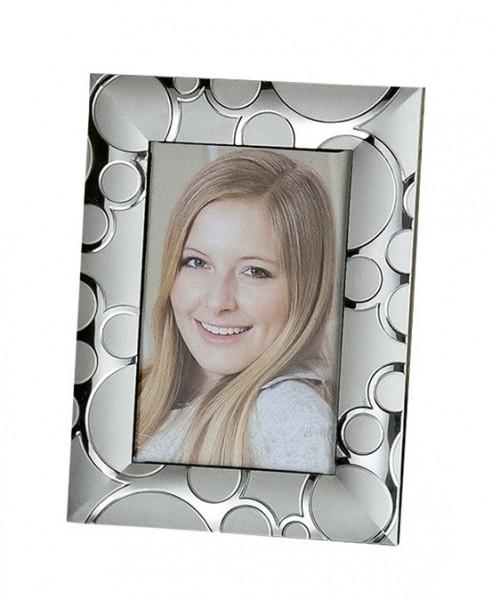 Moderner Bilderrahmen Fotorahmen aus Aluminium Silber 10x15 cm (Variante 3)