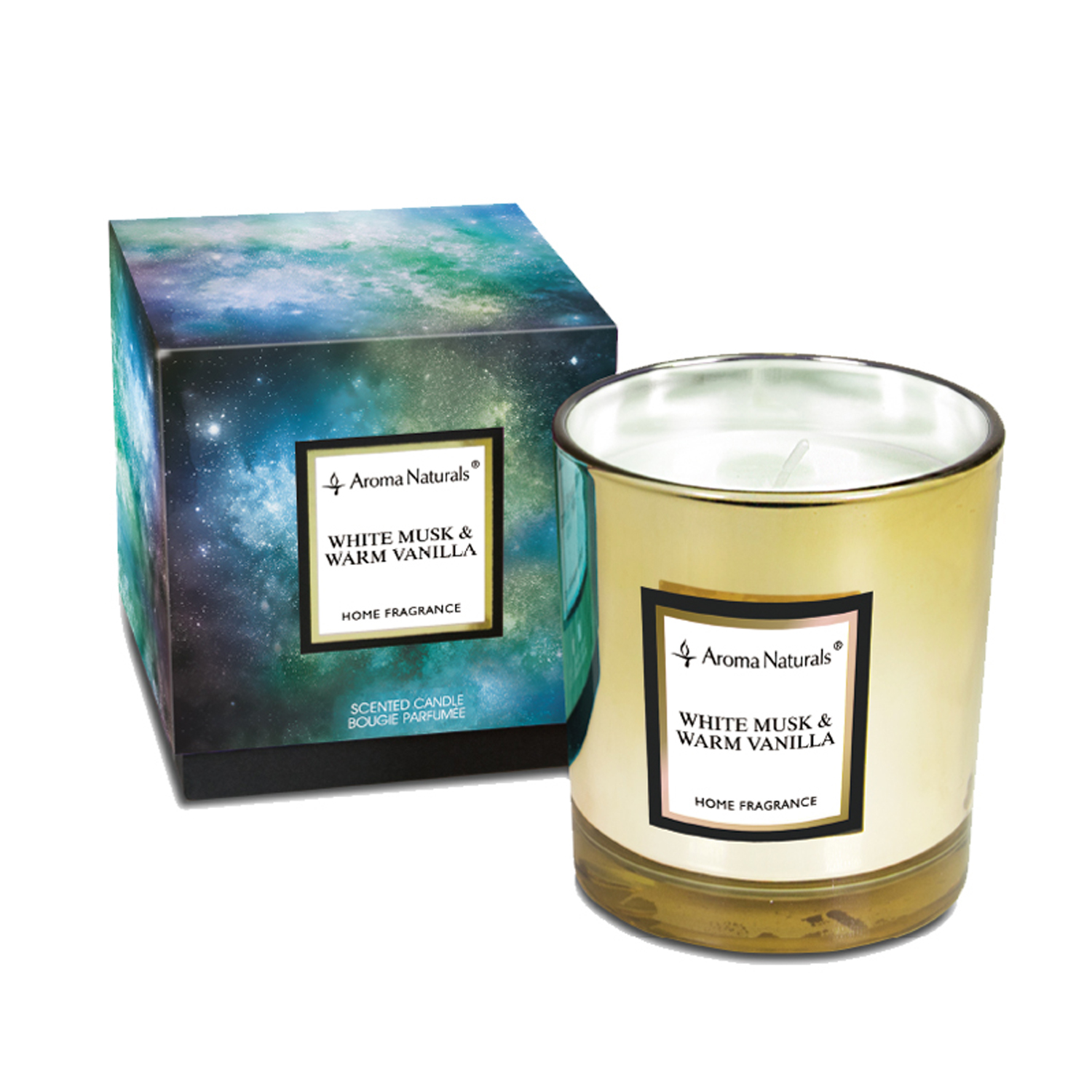 Scented Candle Electrum White Lifestyle More