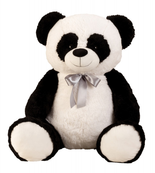 Giant Pandabär Cuddly bear to the love XXL 100 cm big in black / white with bow