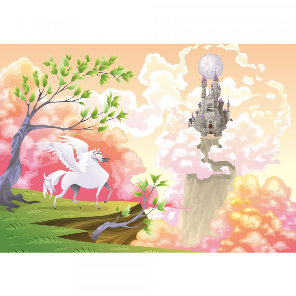Vlies Fototapete Magic Pegasus Kindertapete Tapete Kinderzimmer  Kindertapete Mädchen Einhorn Märchen