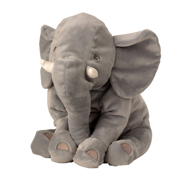 Cuddly soft elephant plush toy lying on the side 50 cm Plush bear cuddly toy velvety soft