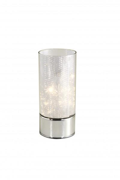Moderne LED Stimmungsbeleuchtung Tischbeleuchtung Zylinderröhre aus Glas mit Holografie Höhe 20 cm B