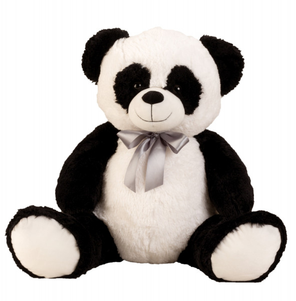 Cuddly big panda bear Cuddly bear with bow to love in black / white height 80 cm