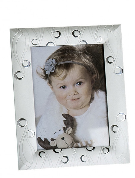 Modern picture frame photo frame made of aluminum silver 10x15 cm
