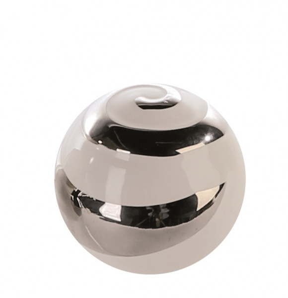 Modern decoration ball white / silver ceramic diameter 15 cm
