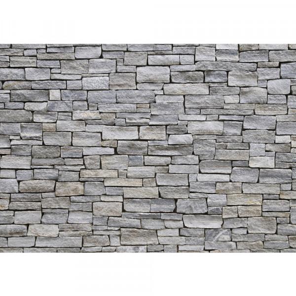Vlies Fototapete Steinwand Tapete Steinwand Steinoptik Steine Wand Mauer Steintapete grau