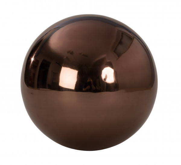 Decorative ball garden deco garden ball brown stainless steel diameter 25 cm