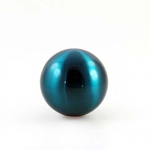 Decorative garden ball decorative ball of stainless steel blue diameter 15 cm