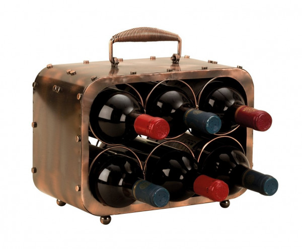 Exclusive wine rack Bottle holder in luggage compartment for storing 6 bottles of metal Height 23 cm