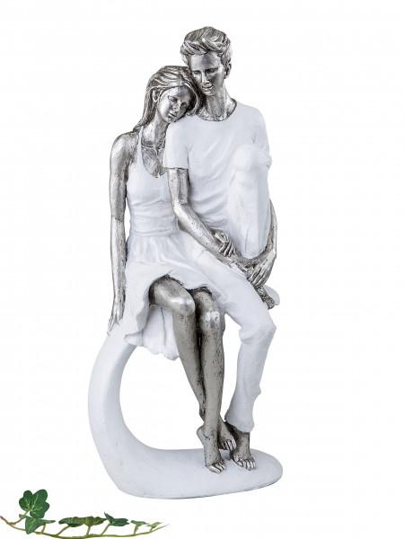Modern lovers sculpture ceramic decoration figure height 36 cm