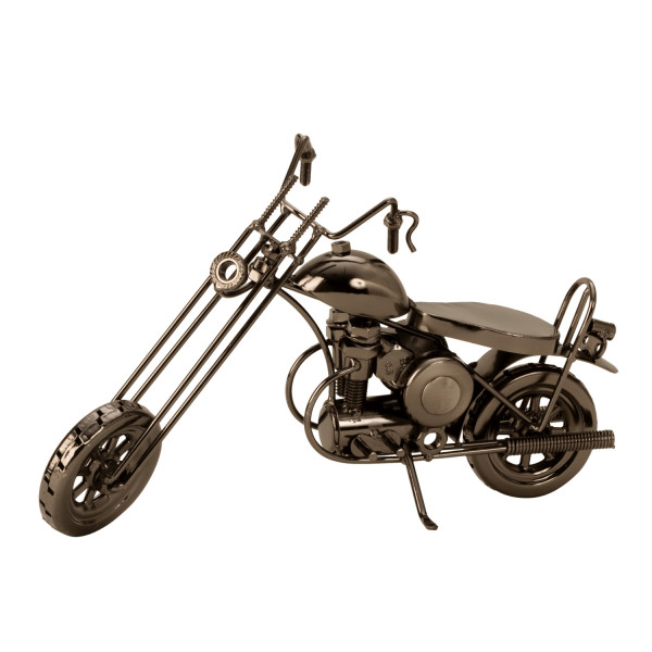 Modern sculpture decoration figure motorcycle metal length 28 cm height 15 cm