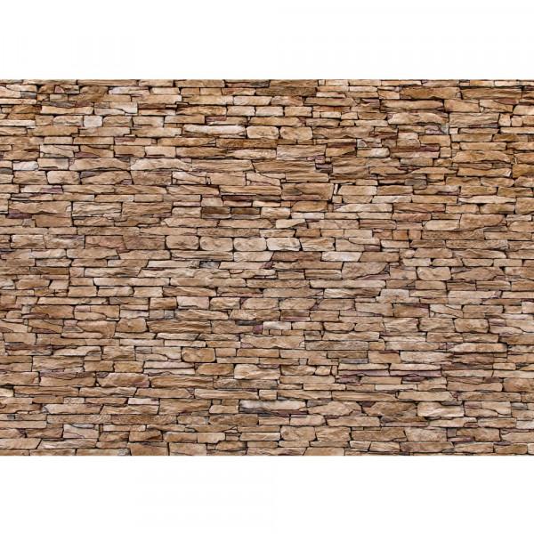 Vlies Fototapete Steinwand Tapete Steinwand Steinoptik Steine Wand Mauer Steintapete braun