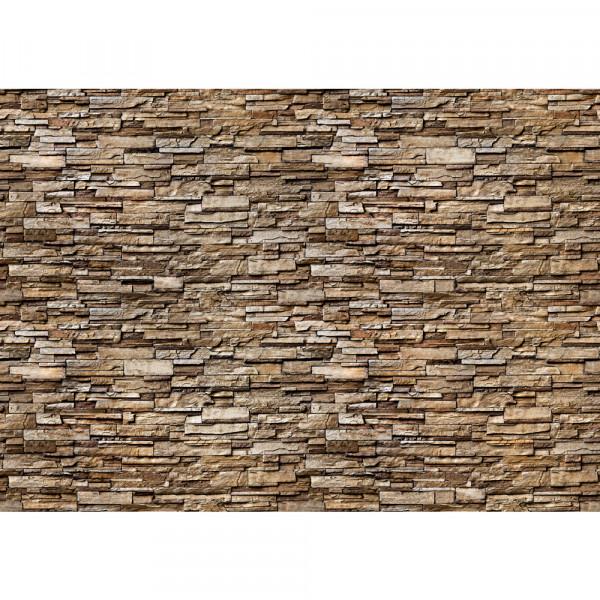 Vlies Fototapete Noble Stone Wall 2 - braun - anreihbar Steinwand Tapete Steinoptik Stein Wand Wall