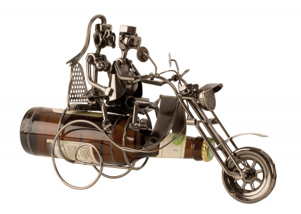 Bottle holder bottle rack motorcycle with pair of metal for beer bottle 0,33 height 21 cm W 26cm