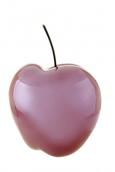 Modern sculpture Deco figurine Apple ceramic Bordeaux Red Height 16 cm Width 13.5 cm