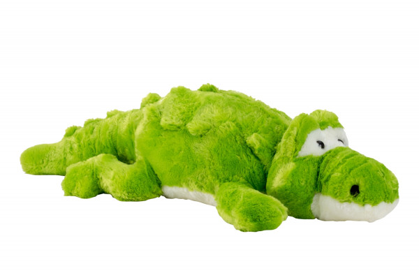 Big crocodile cuddly toy plush toy green 60 cm tall and velvety soft - to love