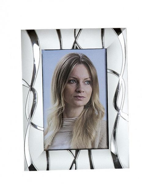 Moderner Bilderrahmen Fotorahmen aus Aluminium Silber 13x18 cm (Variante 2)