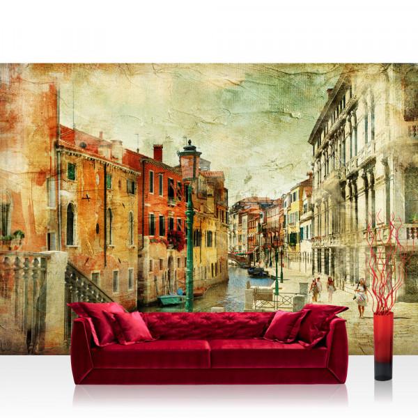 Vlies Fototapete Venedig Tapete Venedig Italien Romantisch Gebäude braun