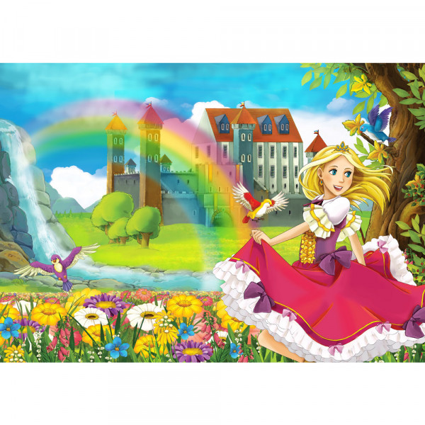 Vlies Fototapete My Little Princess Kindertapete Tapete Kinderzimmer Märchen Fee Elfen Prinzessin