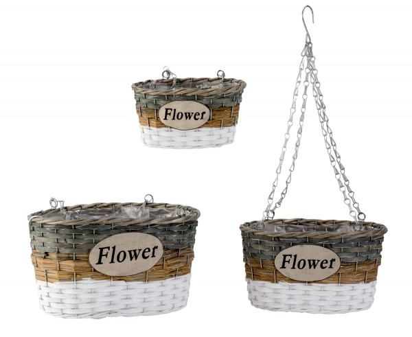 Hängekorb Pflanzen Gefäße zum Hängen Blumenampel im 3er-Set Höhe 49-64 cm Breite 22-33cm