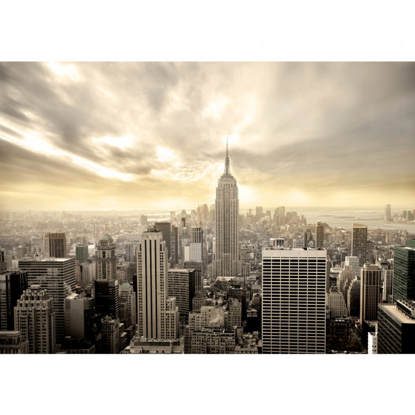 Vlies Fototapete Manhattan Skyline View USA Tapete New York USA Skyline Sephia Empire State
