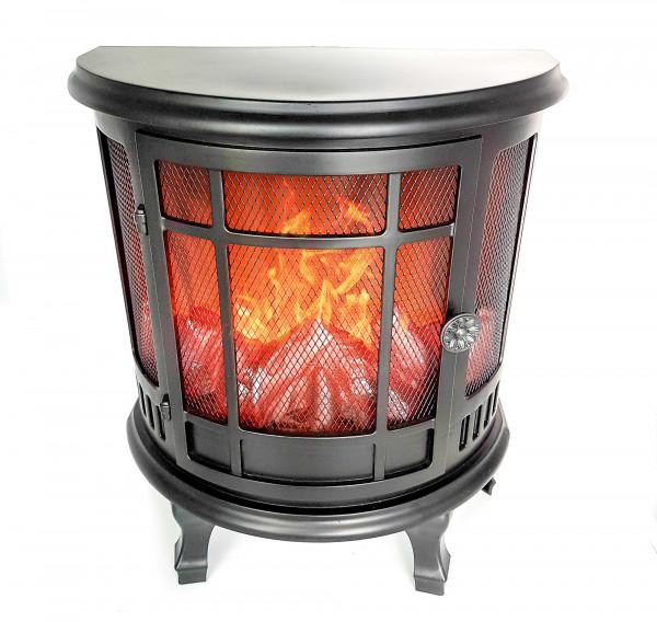 LED fireplace fireplace LED lantern black plastic 30x35 cm with atmospheric flame simulation