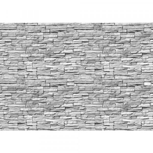 Vlies Fototapete Asian Stone Wall 2 - anreihbar Steinwand Tapete Steinoptik Stein Steine Wand Wall