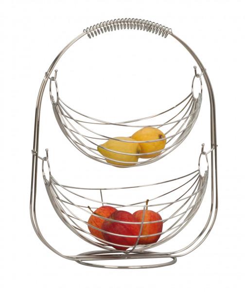 Designer fruit basket fruit basket cake stand fruit bowl metal silver plated high 45 cm