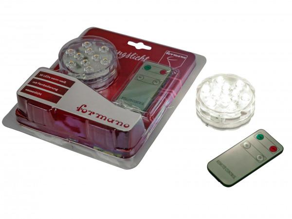 Wasserdichte LED Leuchten inklusive Batterien und Fernbedienung warm weiß ? 7 cm für Vasen, Aquarium