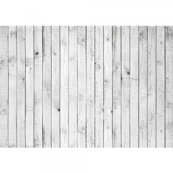 Vlies Fototapete White painted Wooden Wall Holz Tapete Holzoptik Holzwand Holzpaneel weißes Holz